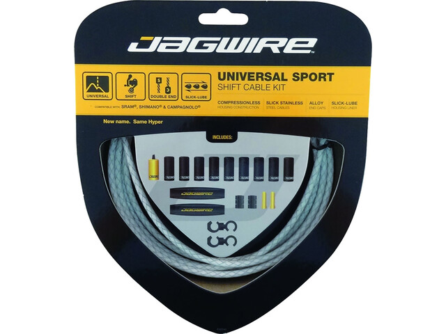 Jagwire Sport Universal Shift Cable Set for Shimano/SRAM/Campagnolo Plaited, white
